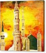 Masjid E Nabwi Canvas Print