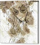 Mask Brown Water Sketch Canvas Print