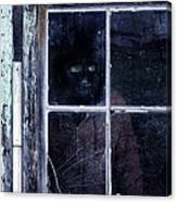 Masked Man Looking Out Window Canvas Print