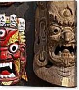 Masks In Kathmandu Nepal Canvas Print