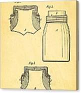 Mason Fruit Jar Patent Art 1870 Canvas Print