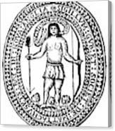 Massachusetts Bay Colonyseal, 1628 Canvas Print