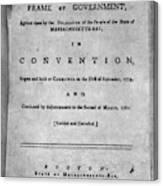 Massachusetts Constitution Canvas Print