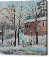 Massachusetts Snowfall Canvas Print