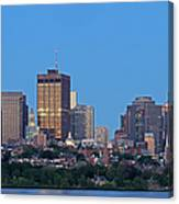 Massachusetts State House And Beacon Hill Canvas Print