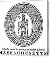 Massachusetts State Seal Canvas Print
