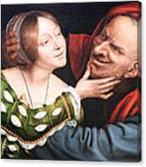 Massays' Ill Matched Lovers Or Badly Matched Lovers Canvas Print
