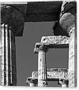 Massive Columns Of Paestum Canvas Print