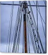 Mast And Rigging Series Number Two Canvas Print