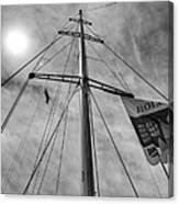 Mast Of Yacht Canvas Print