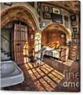 Master Bedroom At Fonthill Castle Canvas Print