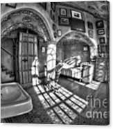 Master Bedroom At Fonthill Castlebw Canvas Print