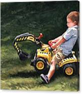 Mastering The Backhoe Canvas Print