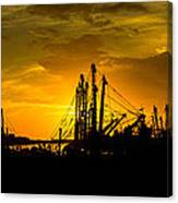 Masts At Sunset II Canvas Print