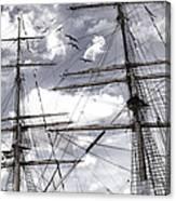 Masts Of Sailing Ships Canvas Print