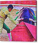 Matador Leading Bull Canvas Print