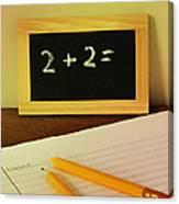 Math Frustration Canvas Print