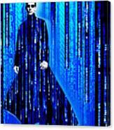 Matrix Neo Keanu Reeves 2 Canvas Print