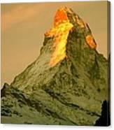 Matterhorn In Switzerland Canvas Print