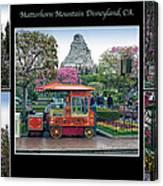 Matterhorn Mountain Disneyland Collage Canvas Print