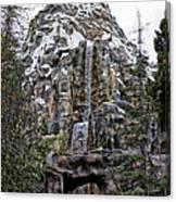 Matterhorn Mountain With Bobsleds At Disneyland Canvas Print