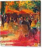 Maturing Sun, Paris Oil On Canvas Canvas Print