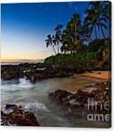 Maui Cove - Beautiful And Secluded Secret Beach. Canvas Print