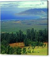 Maui Hawaii Upcountry View Canvas Print