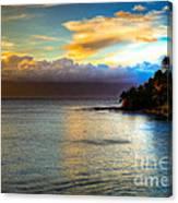 Maui Palm Sunset Canvas Print