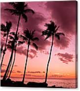 Maui Silhouette Sunset Canvas Print