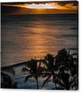 Maui Sunset 1 Canvas Print