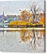 Maumee River Looking Toward Perrysburg Canvas Print