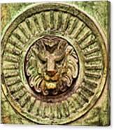 Mausoleum Lion Canvas Print
