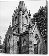 Mausoleum New England Black And White Canvas Print