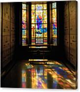 Mausoleum Stained Glass 06 Canvas Print