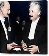 Max Planck And Albert Einstein Canvas Print