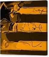 Max Stars And Stripes In Orange Canvas Print