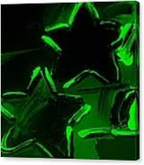 Max Two Stars In Green Canvas Print