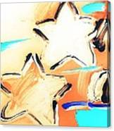 Max Two Stars In Inverted Colors Canvas Print