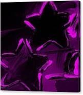 Max Two Stars In Purple Canvas Print