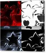 Max Two Stars In Quad Colors Canvas Print