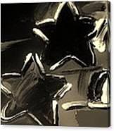 Max Two Stars In Sepia Canvas Print