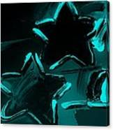 Max Two Stars In Turquois Canvas Print