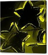 Max Two Stars In Yellow Canvas Print