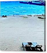 May Beach At Mackinaw Canvas Print