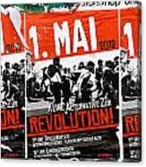 May Day 2012 Poster Calling For Revolution Canvas Print