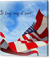 May It Wave Canvas Print