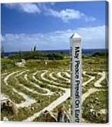May Peace Prevail On Earth Peace Labyrinth Aruba Canvas Print