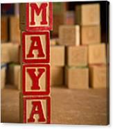 Maya - Alphabet Blocks Canvas Print