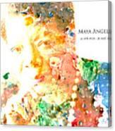 Maya Angelou 1 Canvas Print